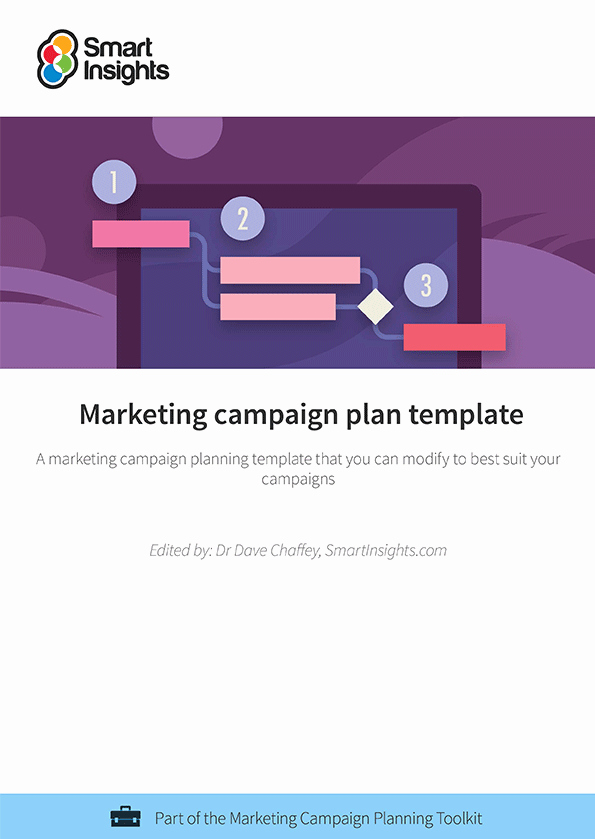 Digital Marketing Campaign Template Best Of Marketing Campaign Plan Template Smart Insights Digital
