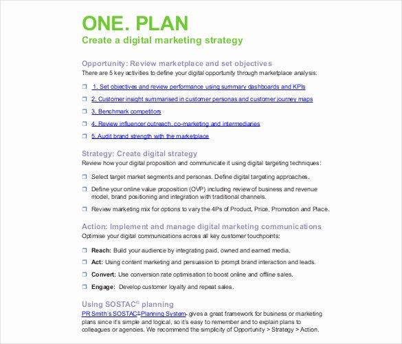 Digital Marketing Campaign Template Elegant Digital Marketing Strategy Template – 13 Word Excel Pdf