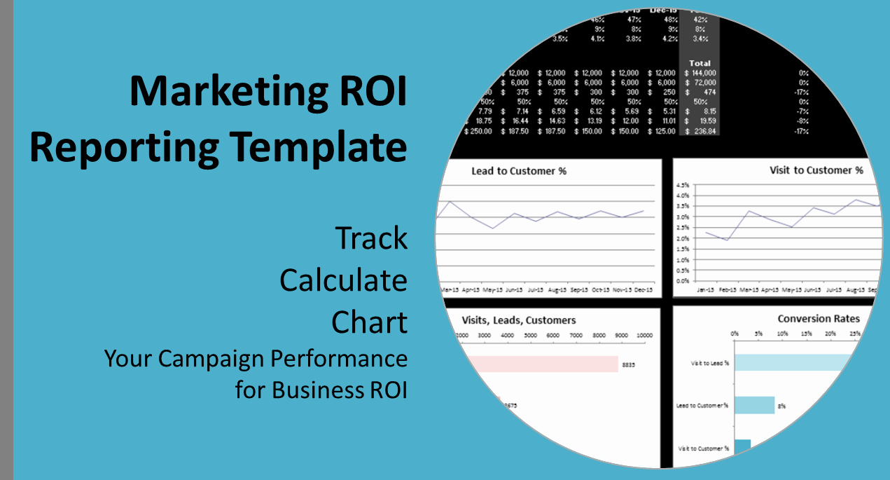 Digital Marketing Campaign Template Fresh Roi In Digital Marketing A Report Template to Track