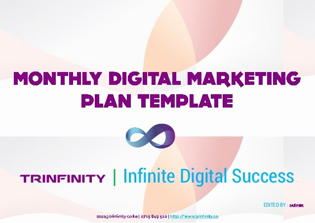 Digital Marketing Campaign Template Inspirational Monthly Digital Marketing Planning Template – Plan Your