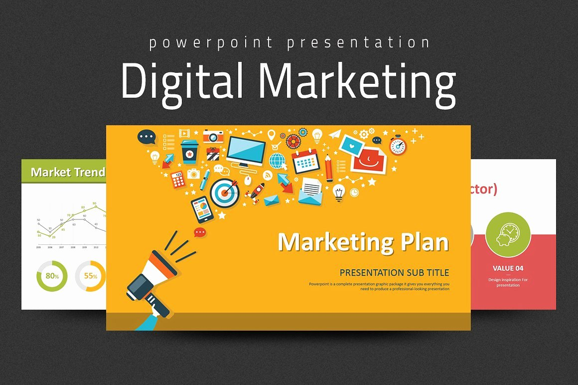 Digital Marketing Campaign Template Luxury Digital Marketing Strategy Ppt Powerpoint Templates