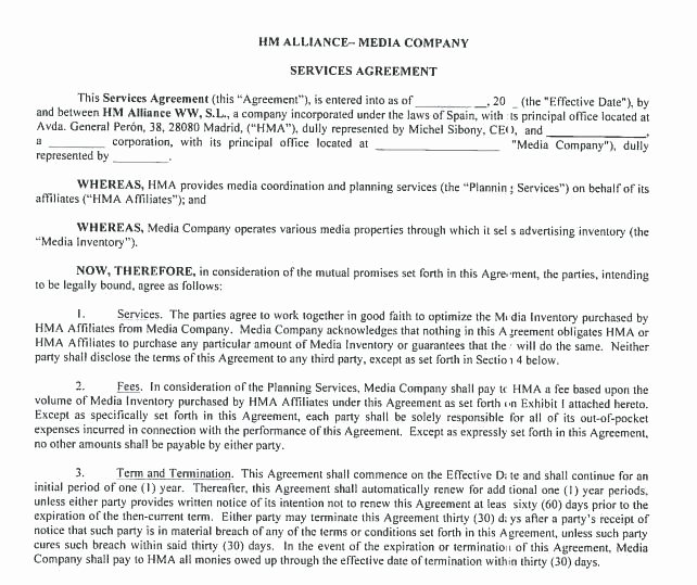 Digital Marketing Contract Template Best Of Digital Marketing Contract Template Line Marketing