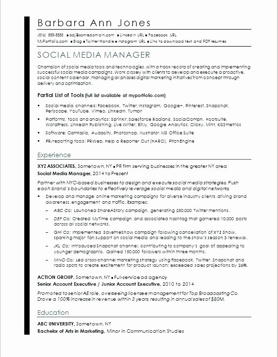 Digital Marketing Contract Template Fresh Media Contract Template social Media Management Contract