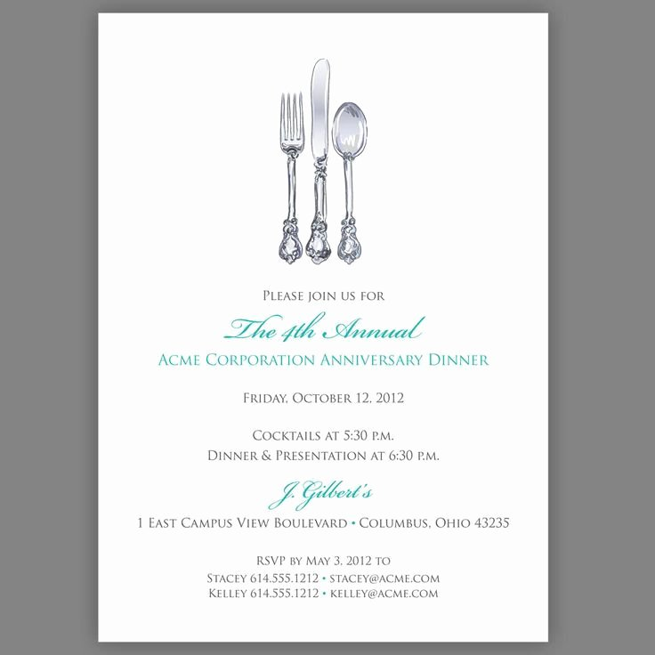 Dinner Invitation Email Template Best Of Business Dinner Invitation Template Free Templates