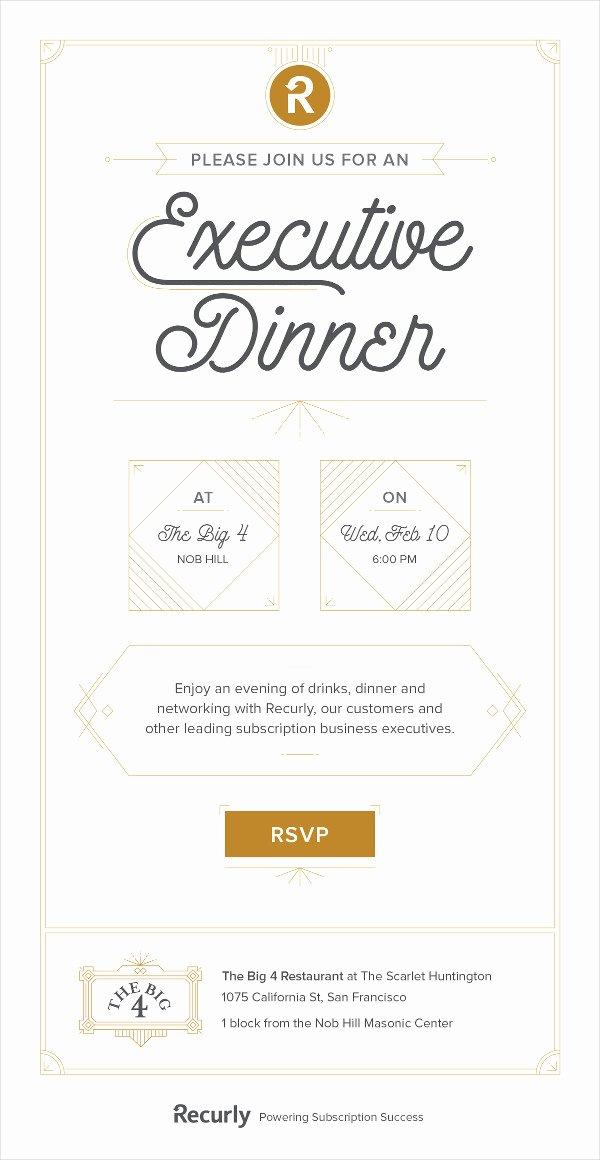 Dinner Invitation Email Template Inspirational 23 Business Invitation Designs & Examples Psd Ai