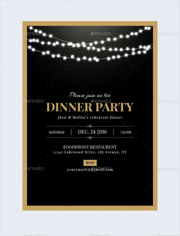 Dinner Invitation Email Template Lovely 47 Dinner Invitation Templates Psd Ai