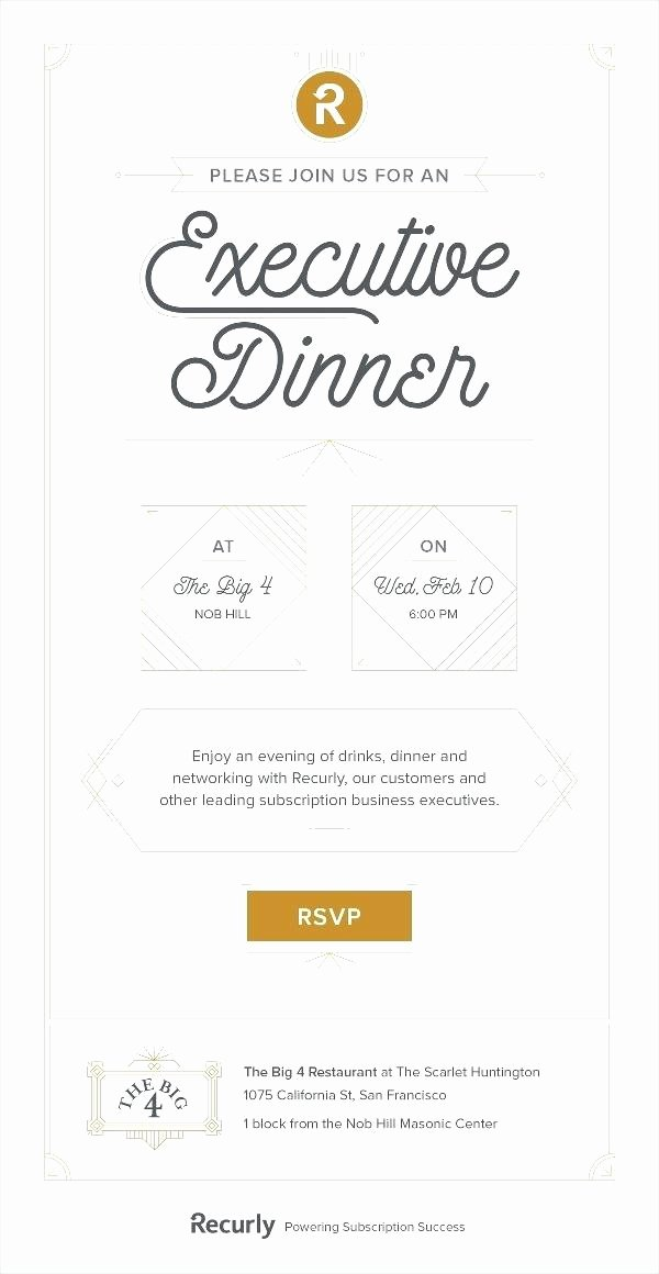 Dinner Invitation Email Template Lovely Business Dinner Invitation Email Template