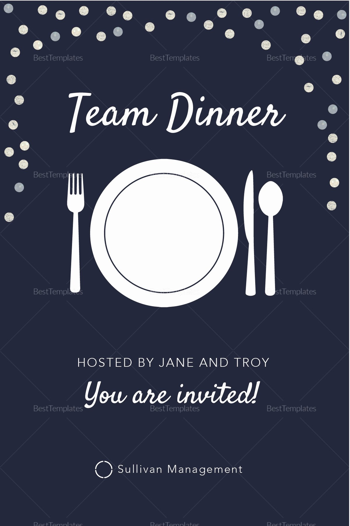 Dinner Invitation Email Template New Elegant Team Dinner Invitation Design Template In Psd
