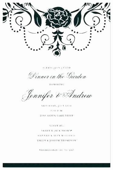 Dinner Invitation Email Template Unique Dinner Invite Template Rehearsal Dinner Invitation