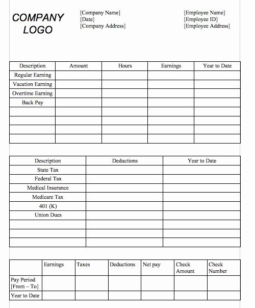 Direct Deposit Pay Stub Template Awesome Direct Deposit Pay Stub Template Free Download