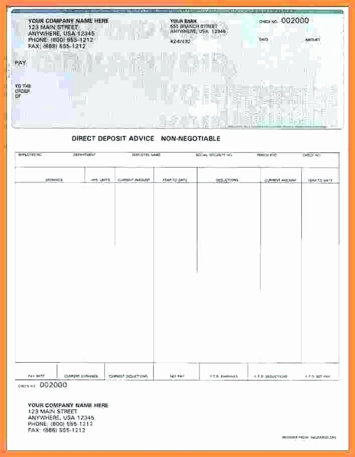 Direct Deposit Pay Stub Template Awesome Direct Deposit Pay Stub Template – Superscripts
