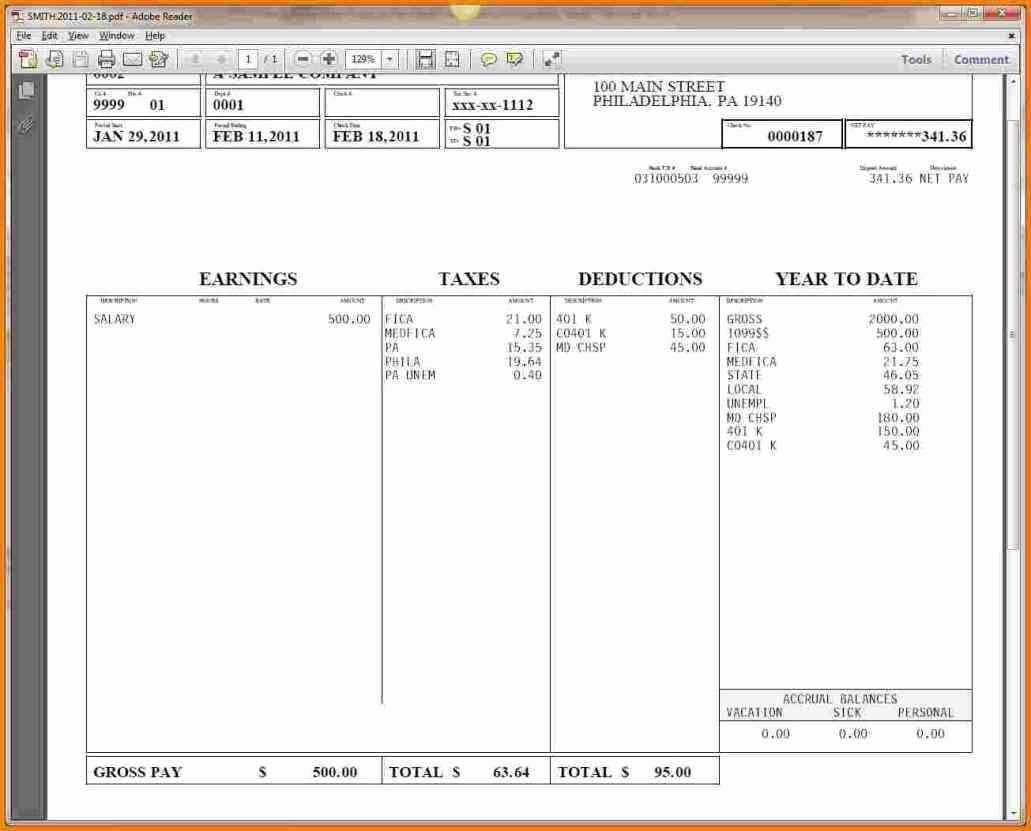 Direct Deposit Pay Stub Template Fresh whether Check Stub Template An Employee Receives Paychecks