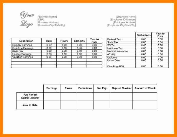 Direct Deposit Pay Stub Template Lovely 9 Direct Deposit Pay Stub Template