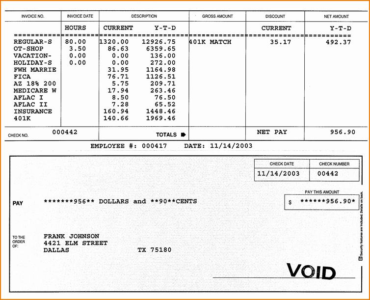 Direct Deposit Pay Stub Template Unique 5 Sample Check Stubs