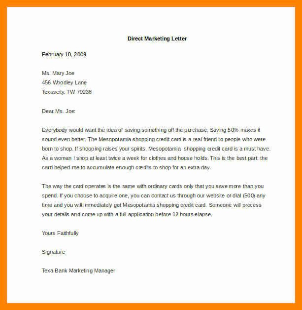 Direct Mail Letter Template Elegant 6 Direct Mail Sample