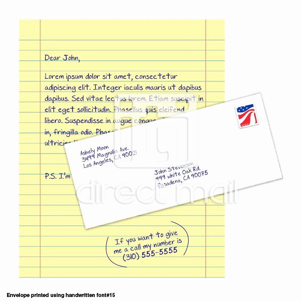 Direct Mail Letter Template Lovely Yellow Letter Iti Direct Mail