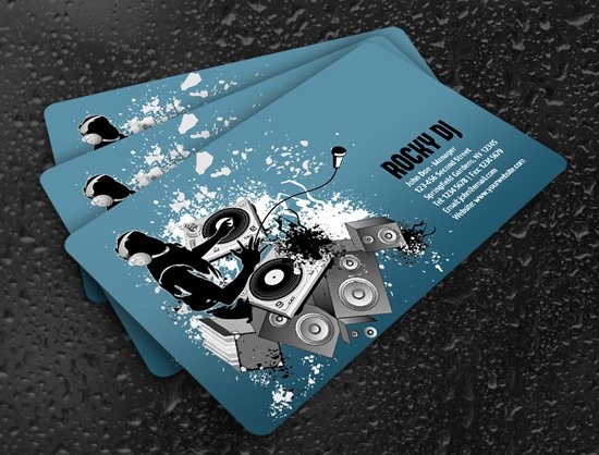 Dj Business Card Template Awesome 100 Free Business Card Templates Designrfix