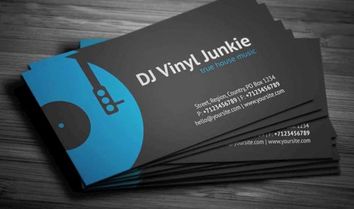 Dj Business Card Template Awesome Amazing Dj Business Cards Psd Templates Design