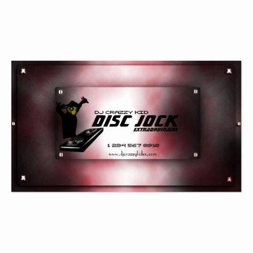 Dj Business Card Template Beautiful Disc Jock Dj Business Card Template