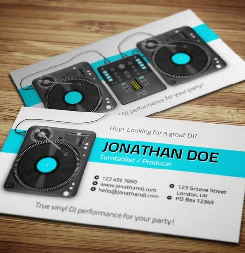 Dj Business Card Template Best Of 25 Best Ideas About Dj Business Cards On Pinterest