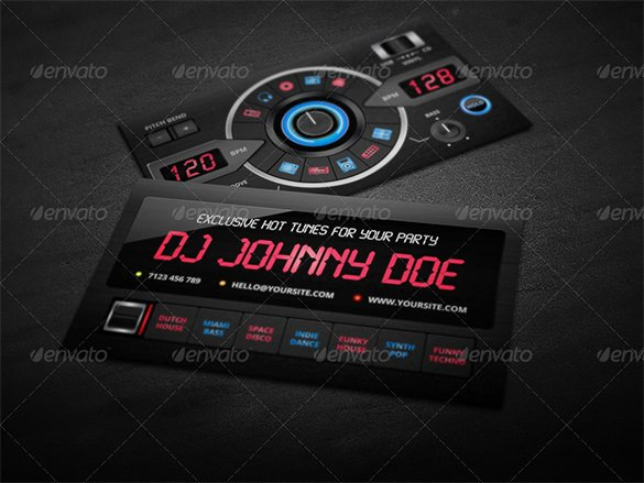 Dj Business Card Template Elegant 18 Dj Business Cards – Free Psd Eps Ai Indesign Word