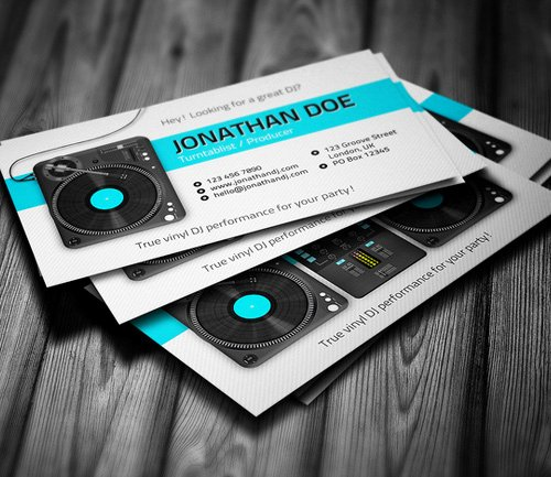 Dj Business Card Template Elegant Amazing Dj Business Cards Psd Templates Design