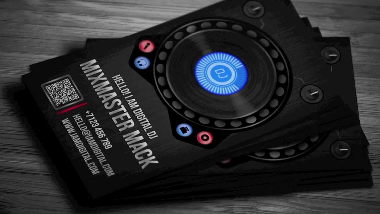 Dj Business Card Template Elegant Digital Dj Business Card Template