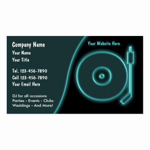Dj Business Card Template Fresh Dj Business Cards