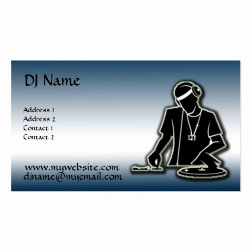 Dj Business Card Template Fresh the Dj Improved Double Sided Standard Business Cards