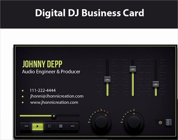 Dj Business Card Template Inspirational 27 Dj Business Cards Templates Shop Ms Word