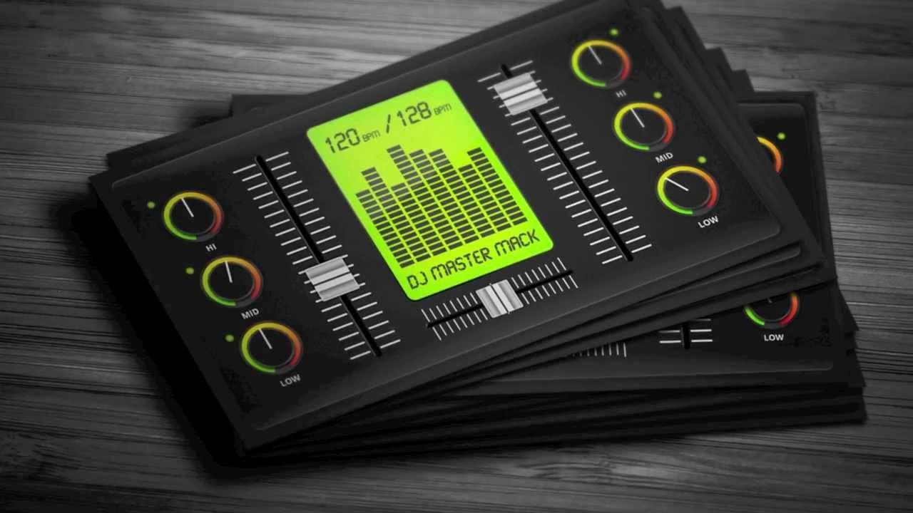 Dj Business Card Template Inspirational Creative Digital Dj Business Card Template