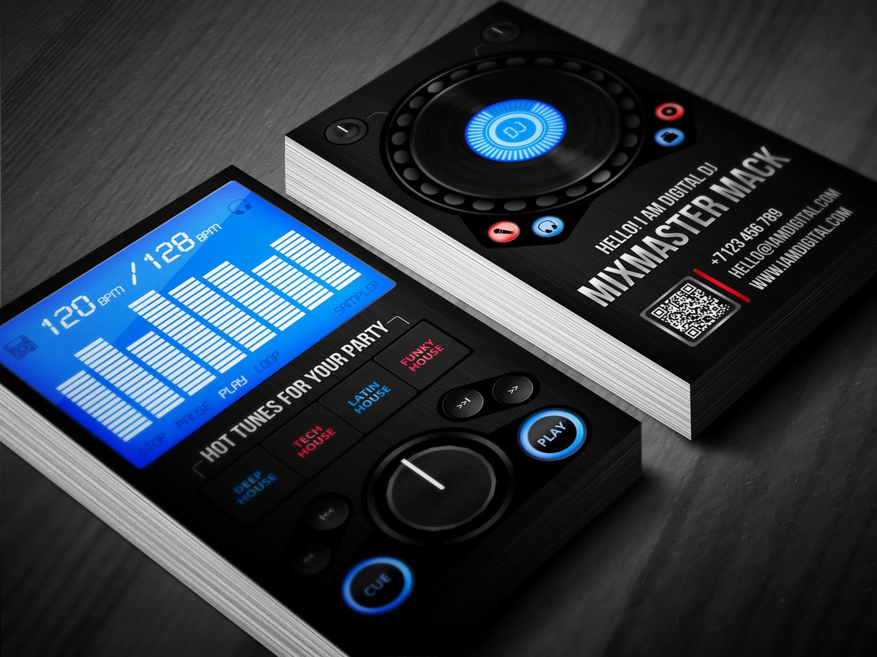 Dj Business Card Template Inspirational Digital Dj Business Card by Iamvinyljunkie On Deviantart