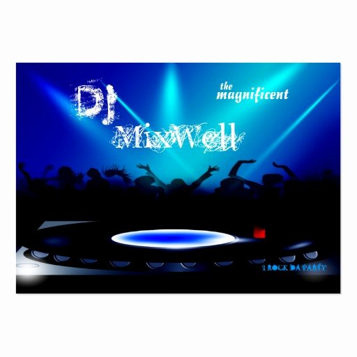 Dj Business Card Template Inspirational Disc Jockey Dj Party Clubbing Business Card