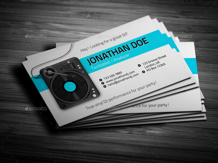 Dj Business Card Template Inspirational Turntablist Dj Business Card by Vinyljunkie