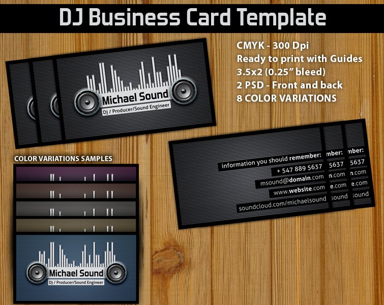 Dj Business Card Template Lovely 11 Dj Business Card Psd Dj Business Cards