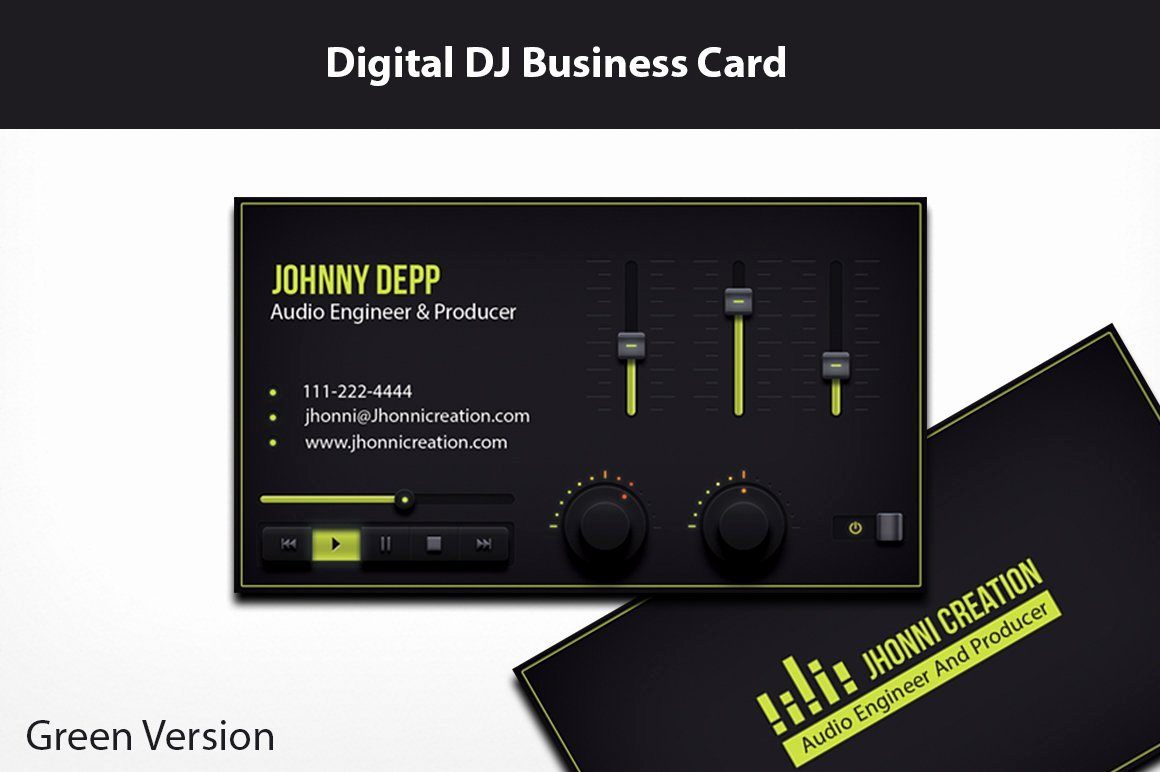 Dj Business Card Template Lovely Music Producer and Dj Business Card Business Card