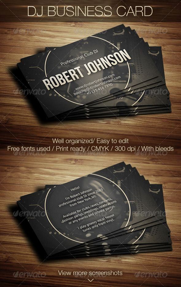 Dj Business Card Template Luxury 17 Best Images About Dj Business Cards On Pinterest