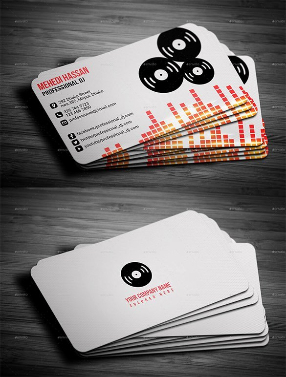 Dj Business Card Template Luxury 27 Dj Business Cards Templates Shop Ms Word