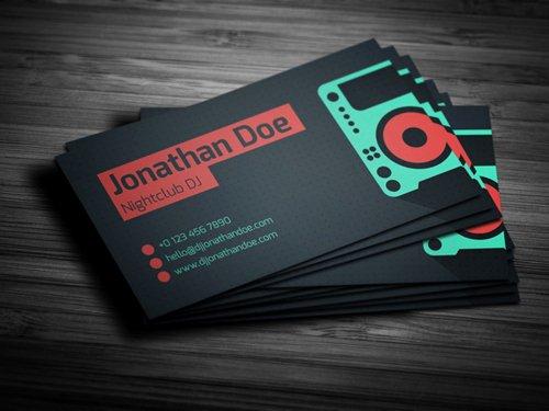 Dj Business Card Template New Amazing Dj Business Cards Psd Templates Design