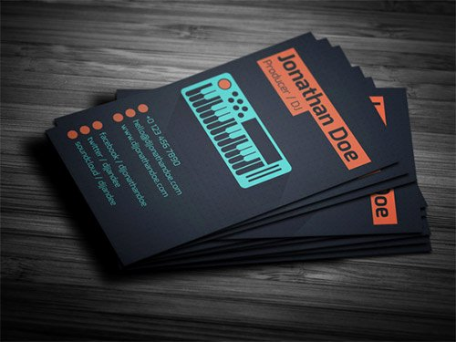 Dj Business Card Template New Dj Business Card Free Templates