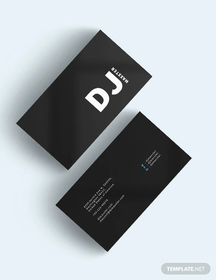 Dj Business Card Template Unique 27 Dj Business Cards Templates Shop Ms Word
