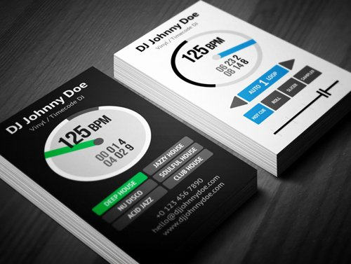 Dj Business Card Template Unique Amazing Dj Business Cards Psd Templates Design