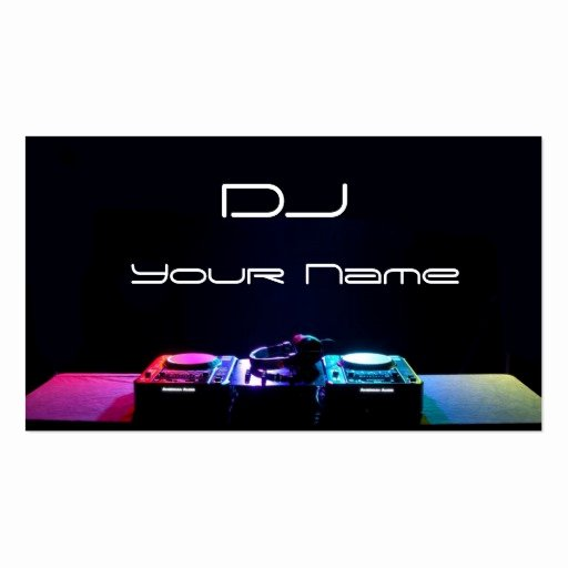 Dj Business Card Template Unique Dj Business Card