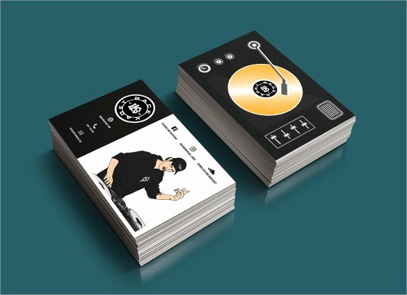Dj Business Card Template Unique Dj Business Cards