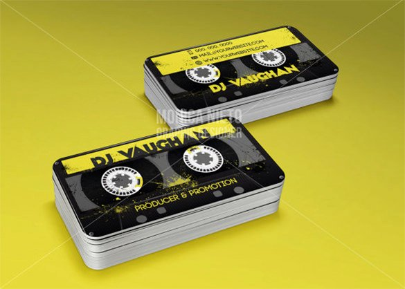 Dj Business Cards Template Awesome 18 Dj Business Cards – Free Psd Eps Ai Indesign Word
