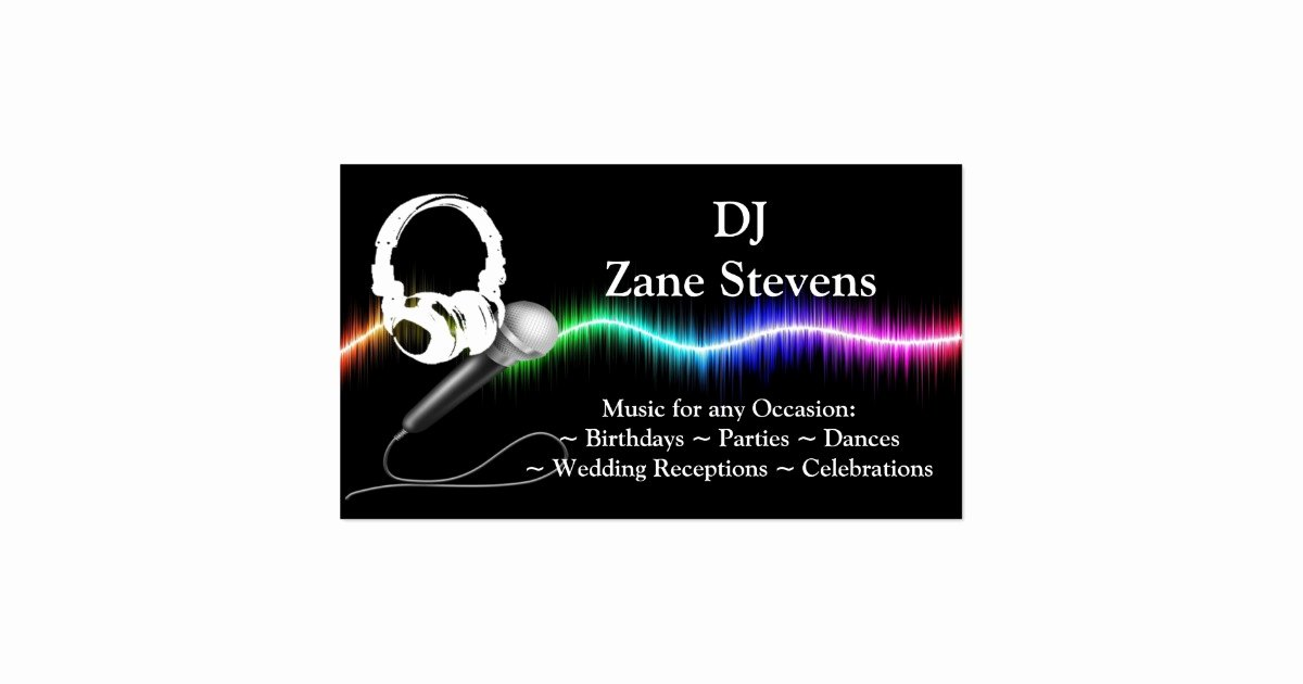 Dj Business Cards Template Awesome Dj Microphone Headphones Business Card Template