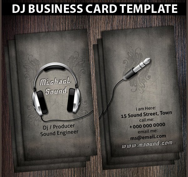 Dj Business Cards Template Beautiful 25 Dj Business Card Templates Free Psd Ai Eps format