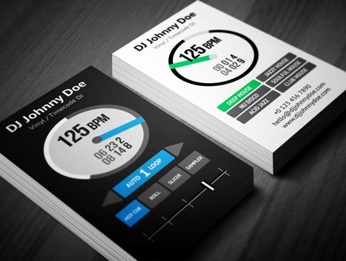 Dj Business Cards Template Beautiful Amazing Dj Business Cards Psd Templates Design
