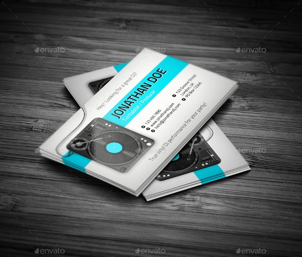 Dj Business Cards Template Inspirational 19 Dj Business Cards Free & Premium Psd Ai format Download
