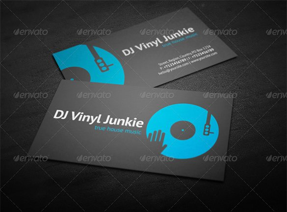 Dj Business Cards Template Inspirational 27 Dj Business Cards Templates Shop Ms Word